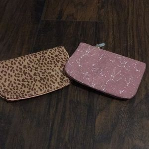 Two makeup bags